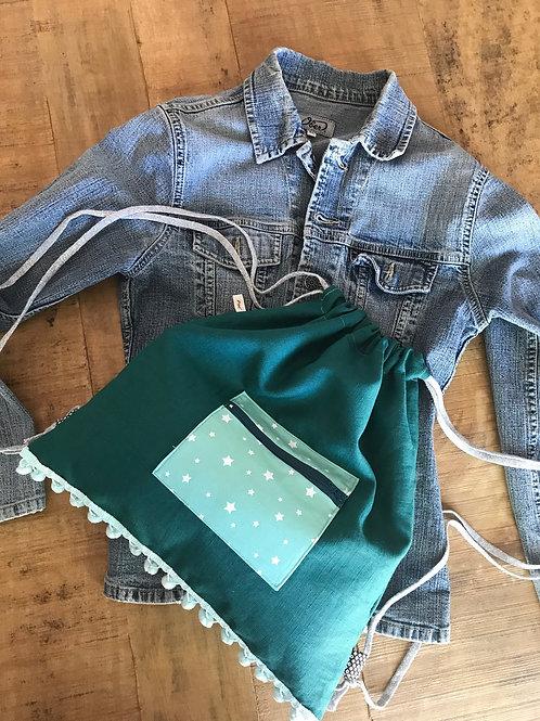 sac à dos lin vert