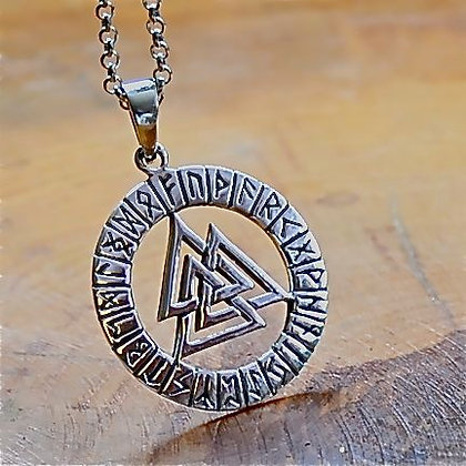 Valknut with Runes