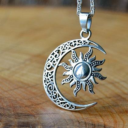 Filigree Moon and Sun