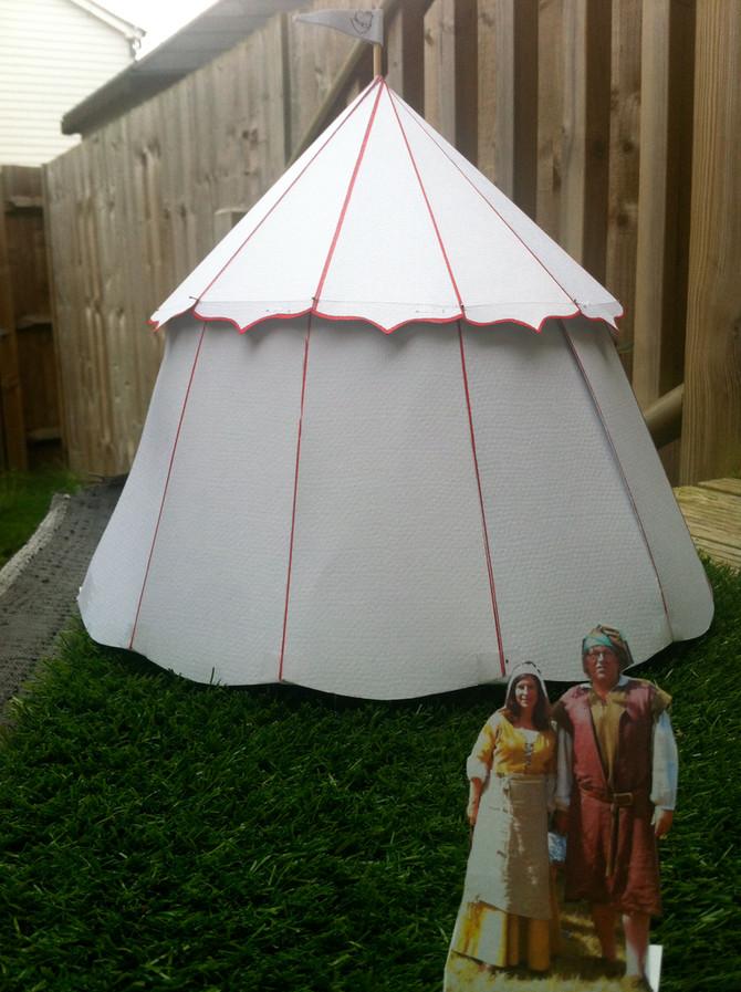 Medieval single pole pavilion