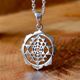 Sri Yantra with Solid Lotus
