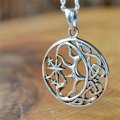 Celtic Moon, Sun and Star.