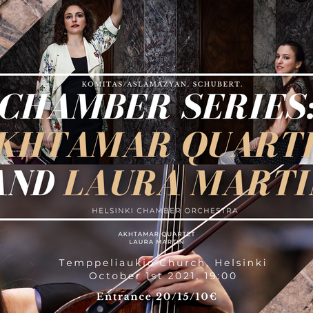 Chamber Series: Akhtamar Quartet and Laura Martin