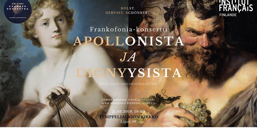 Frankofonia-konsertti: Apolloniaanista ja dionyysistä