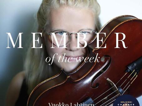 Member of the Week - Vuokko Lahtinen