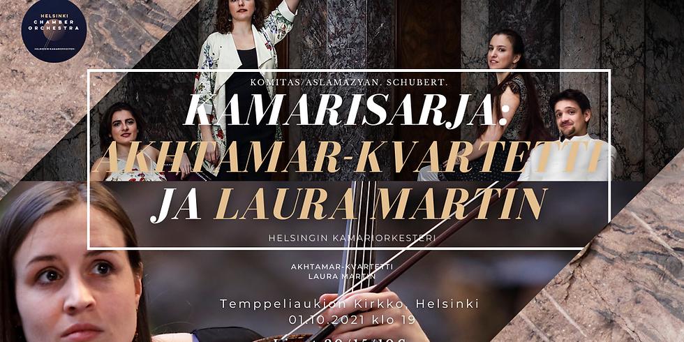 Kamarisarja: Akhtamar-kvartetti ja Laura Martin