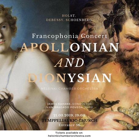 Francophonia Concert: Apollonian and Dionysian