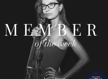 Member of the Week - Irina Rusu