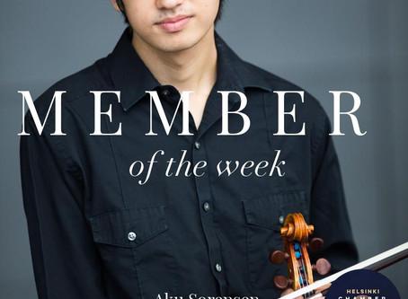 Member of the Week - Aku Sorensen