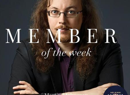 Member of the Week - Martin Malmgren