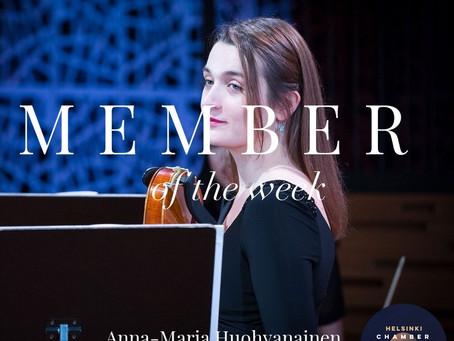 Member of the Week - Anna-Maria Huohvanainen