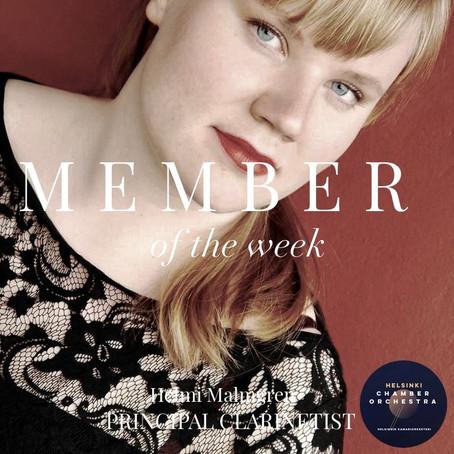 Member of the Week - Helmi Malmgren