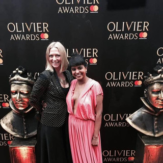 At the Olivier awards with The Rambert Dance Company