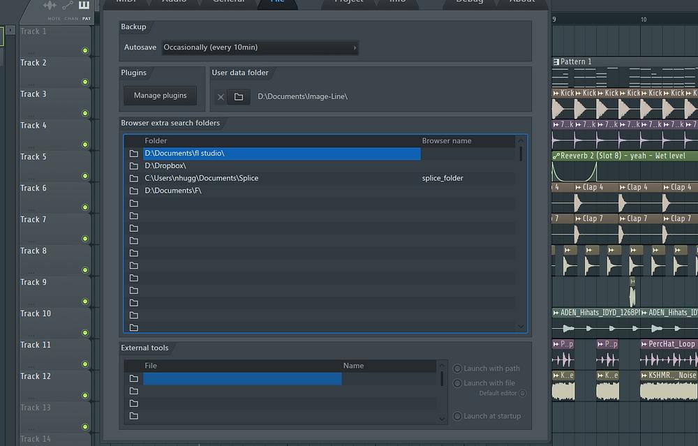 File Settings FL Studio 20