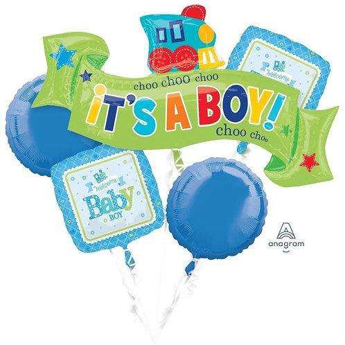2FB0005 It's a Boy! Foil Balloon Bouquet 主題鋁氣球束