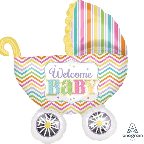 2F0096 歡迎寶貝造型鋁紙汽球 Welcome Baby foil balloon