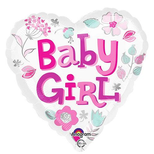 Baby Girl Heart 2F0007 / Baby Boy Star 2F0008 Foil Balloon 鋁紙氣球