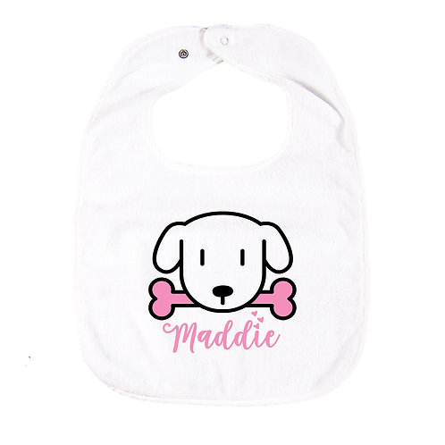 Puppy Bib with Embroidered Name 狗狗繡花口水肩
