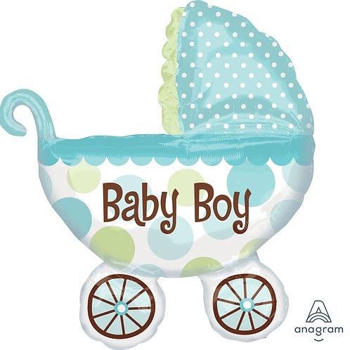 2F0015 Baby Boy 嬰兒車鋁氣球 Baby Boy Buggy Foil Balloon