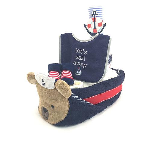 水手熊船仔 Sailor Bear Ship Diaper Cake