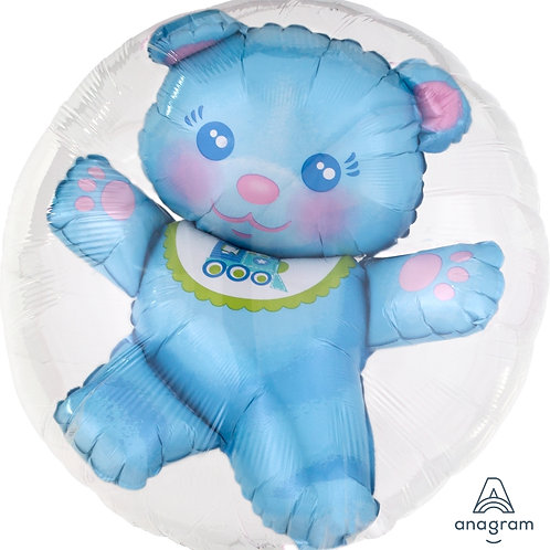 Double Bubble Baby Teddy Balloon BB啤啤熊水晶氣球