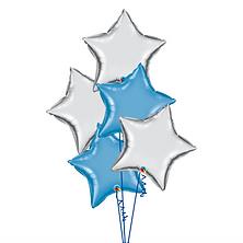 Star Balloon Bouquet 星星氣球束 (5pcs)