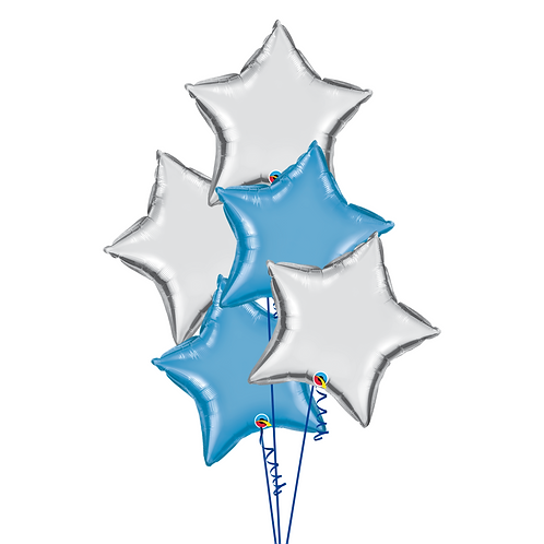 Star Balloon Bouquet 星星氣球束 (5pcs)