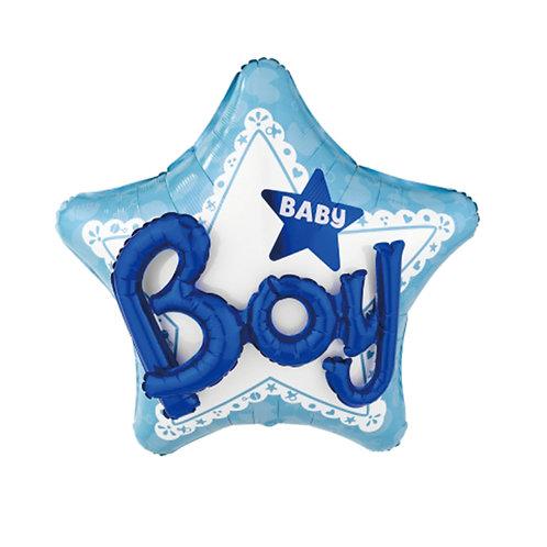 2F0022 3D Baby Boy 鋁紙氣球 3D Baby Boy Foil Balloon