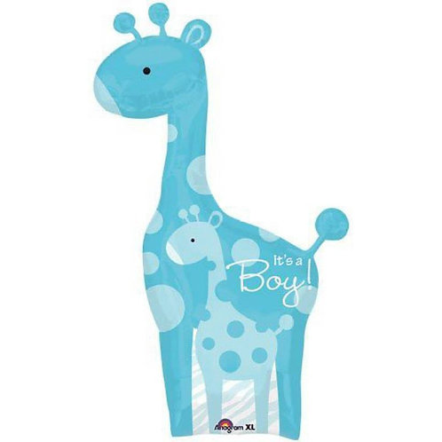 2F0020 Baby Boy 長頸鹿鋁紙氣球 Safari Baby Boy Giraffe Foil Balloon