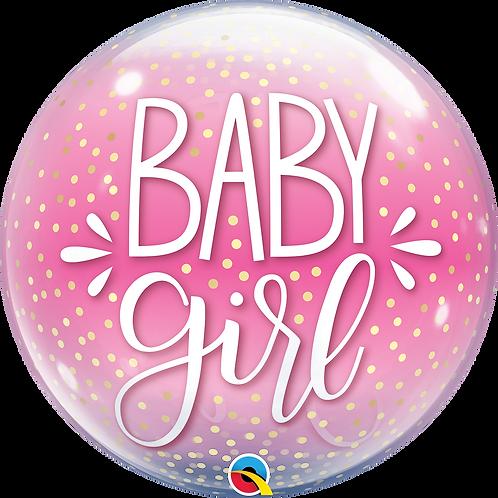 2C0102 Baby Girl Bubble Balloon 水晶氣球