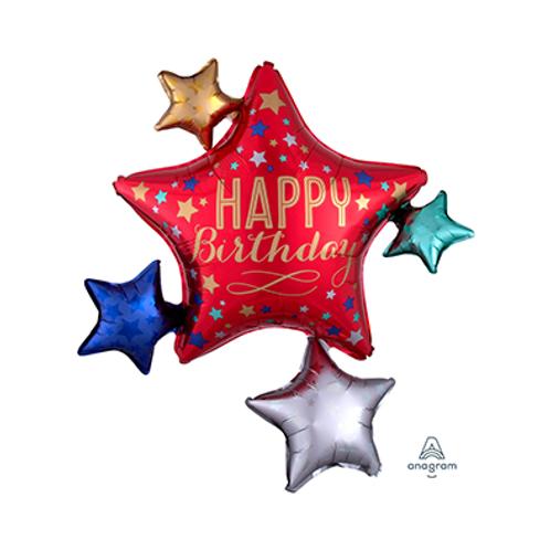 3D Happy Birthday foil balloon 2F0088 立體生日快樂汽球
