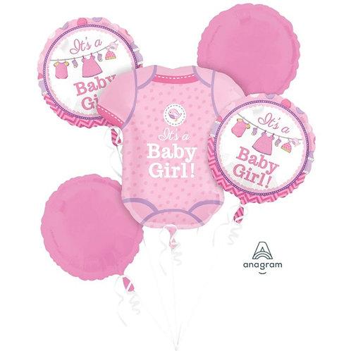 2FB0002 It's a Girl!  Foil Balloon Bouquet 主題鋁氣球束