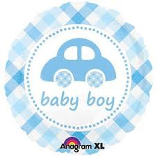 Baby Girl Flower 2F0003 / Baby Boy Car 2F0006 Foot Foil Balloon 鋁紙氣球