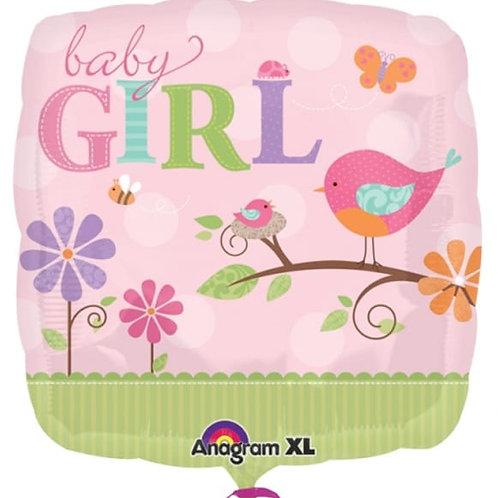 2F0002 Baby GIRL 鋁紙氣球 Baby GIRL Foil Balloon
