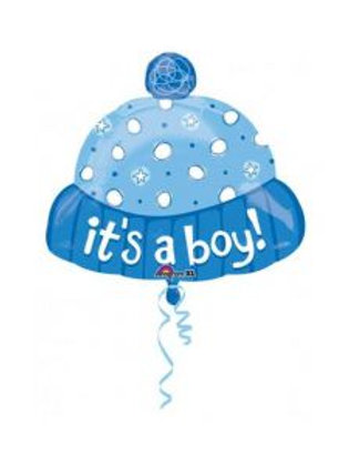 2F0009 it's a boy 帽鋁紙氣球 it's a boy Hat Foil Balloon