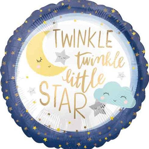 2F0104 Twinkle Twinkle Little Star Foil Balloon 鋁氣球