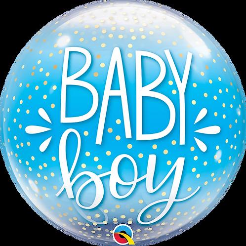 2C0103 Baby Boy Bubble Balloon 水晶氣球