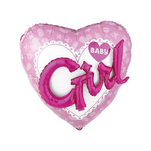 2F0023 3D Baby Girl 鋁紙氣球 3D Baby Girl Foil Balloon