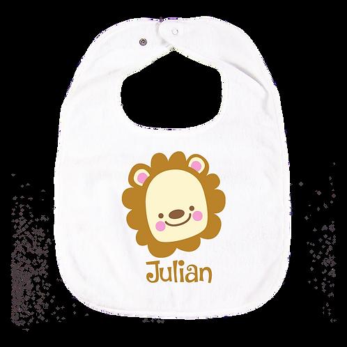 Lion Personalised Bib 獅子繡名口水肩