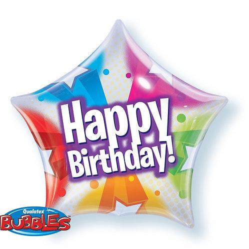 Happy Birthday Star foil balloon 2F0085 生日快樂星星型