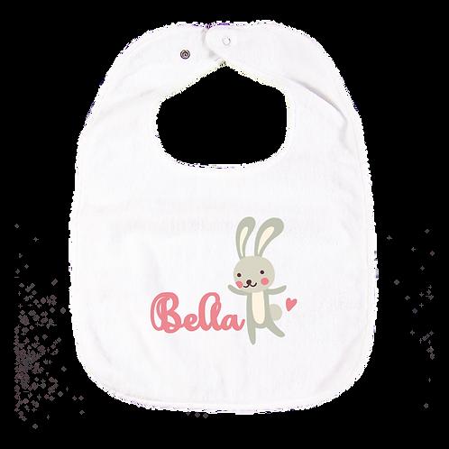 Bunny Personalised Bib 兔子繡名口水肩