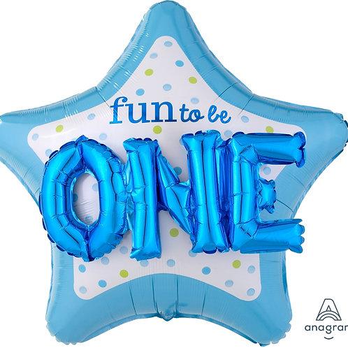 2F0097 3D Fun to be one鋁紙氣球 3D Fun to be one Foil Balloon