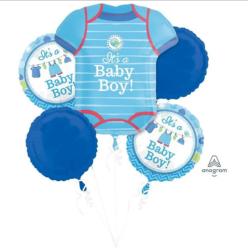 2FB0001 It's a Boy! Foil Balloon Bouquet 主題鋁氣球束