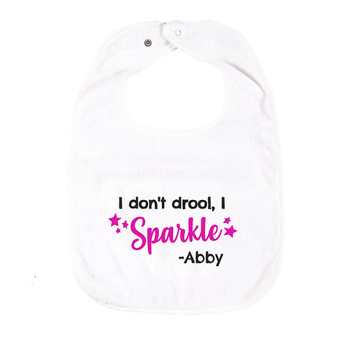 """I don't drool, I sparkle"" Personalized Bib 繡名口水肩"