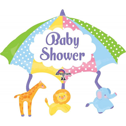 2F0021 Baby Shower Umbrellal 鋁紙氣球 Baby Shower Umbrellal Foil Balloon
