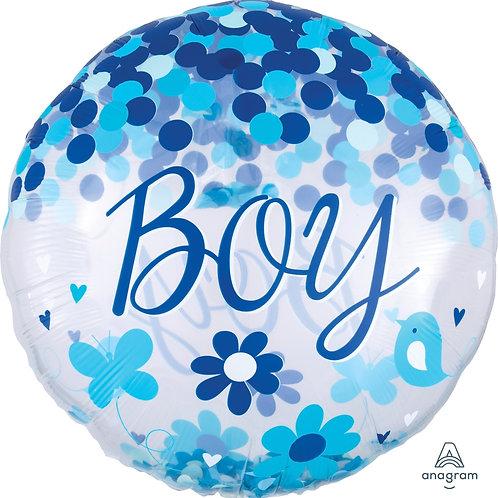 2C0083 Baby Boy 彩紙汽球 Baby Boy Confetti Balloon