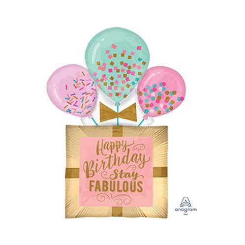 2F0087 生日禮物造型鋁紙汽球 Birthday Gift foil balloon