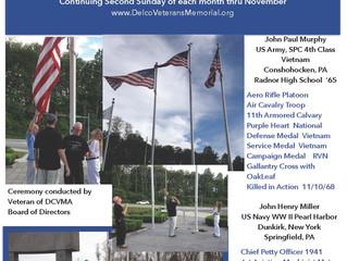 Casket Flag Raising Ceremony - Murphy/Miller