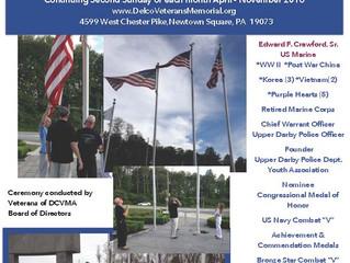 Casket Flag Raising Ceremony - Crawford