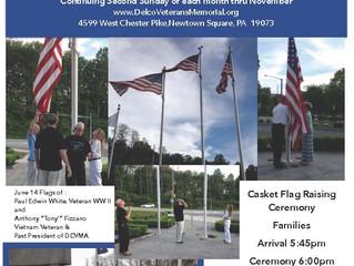 Casket Flag Raising Ceremony - White/Fizzano/Flag Day